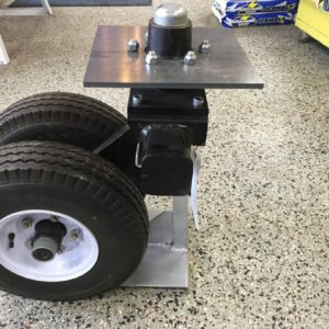 Axle, Mounting Plate & Tires on Rims
